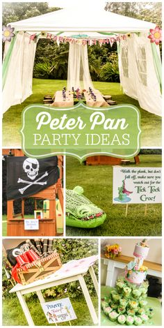 A Neverland themed girl birthday party with Tinkerbell, Peter Pan and fun games and activities!  See more party ideas at CatchMyParty.com!