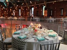 Bridal Bliss Wedding: chic mint, coral, and grey with chevron