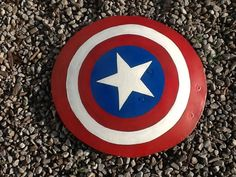 DIY halloween Avengers Captain America Shield from an old satellite dish