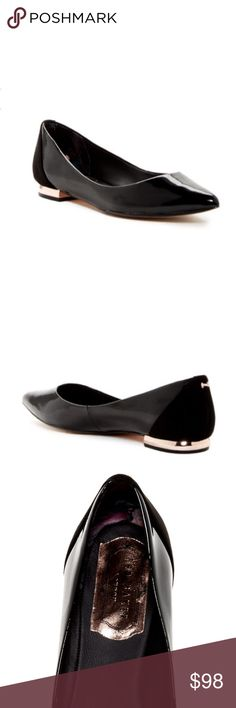 07a7f01109f12 🖤JUST IN🖤 Ted Baker Flats in Black and Rose Gold NEW WITHOUT TAGS Ted