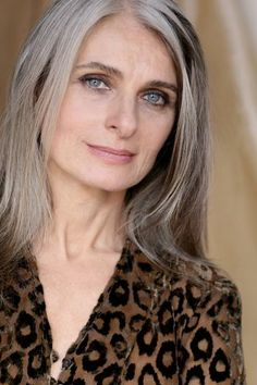 MARTINA GAZZONI. Long gray hair. Beautiful