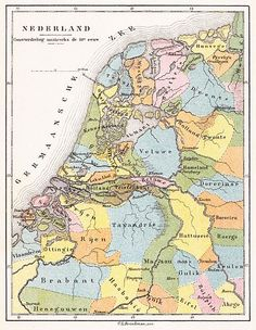 century - The districts of the Low Countries European Map, European History, Early World Maps, Holland Map, Hellenistic Period, Classical Antiquity, Old Maps, Historical Maps, Netherlands