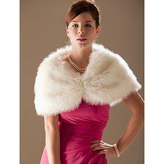 2015 New Ivory Trendy Faux Fur Ivory Wedding Bridal Shawl/Wrap Stole Shrug Cape Wedding Fur, Wedding Jacket, Wedding Wraps, Ivory Wedding, Bridal Shawl, Wedding Shawl, Bridal Dresses, Bridesmaid Dresses, Faux Fur Wrap