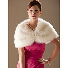 Faux Fur Special Occasion/ Wedding Shawl  – USD $ 18.99