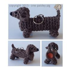 Crochet Pattern Lip Balm Holder - Dachshund / Wiener Dog