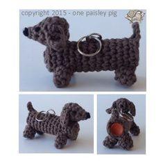 Crochet Pattern Lip Balm Holder - Dachshund / Wiener Dog