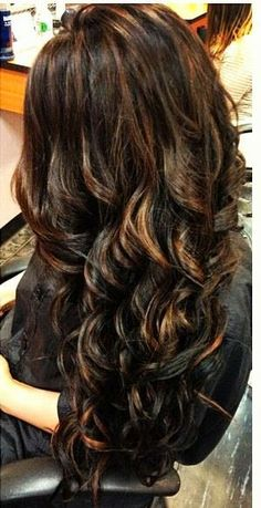 Dark hair with highlights