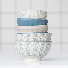 Go blue... Mix & Match Mynte & Casablanca Stoneware | Ib Laursen