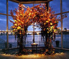 Awesome fall wedding arch - love.