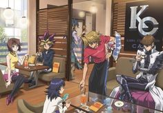 Oh look Joey and Kaiba are sitting next to each other... Puppyshipping exists! (Kill me)