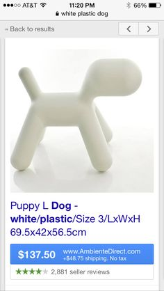 KETCHUP FOR $137 YES <<<< THOSE DORKS SPENT OVER A HUNDRED BUCKS ON A WHITE PLASTIC DOG WHATTTT<<< and then payed for it to get groomed!