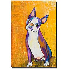 @Overstock - This vertical gallery-wrapped canvas art print from artist Pat Saunders is filled with bold, cheerful colors to brighten up any room in your home. The contemporary print features an adorable little dog, and the canvas is ready for hanging.http://www.overstock.com/Home-Garden/Pat-Saunders-Cosmos-Gallery-wrapped-Canvas/4703203/product.html?CID=214117 $66.39
