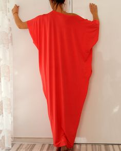Coral Spring Summer Maxi oversized plus by cherryblossomsdress