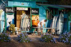 Surf Shop by nantel Beach Cottage Style, Coastal Style, Surf Decor, Hawaii Surf, Sup Yoga, Surfer Style, Surf Shack, Bali Travel, Hawaii Travel