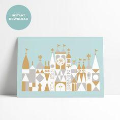 Small World Disneyland, Disneyland Birthday, Disneyland Tickets, Vintage Disneyland, Deco Disney, Seating Cards, Disney Home, Nursery Art, Xmas