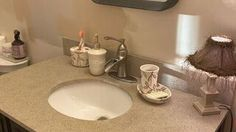 My Little Bathroom Makeover for $50 | Hometalk Downstairs Bathroom, Small Bathroom, Bathroom Ideas, Bathrooms, Cheap Bathroom Makeover, Cheap Bathroom Remodel, Stone Spray Paint, Stained Kitchen Cabinets, How To Clean Bbq