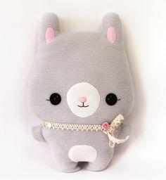 Plushie Sewing Pattern PDF Cute Soft Toy - Mimi Bunny Rabbit Softie Stuffed Animal 14 via Etsy