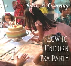 How To A Unicorn Tea Party