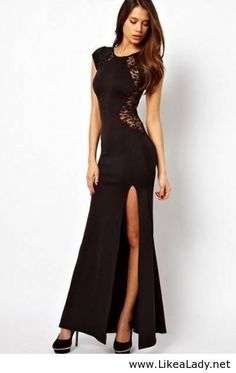 Sexy long dress - more → http://carolonlinefashion.blogspot.com/2013/10/sexy-long-dress.html
