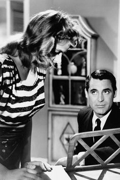 Cary Grant and Ingrid Bergman in Notorious, 1946.