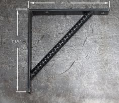7 Rebar Shelf Bracket by steelwoodandfireshop on Etsy Diy Welding, Welding Tools, Welding Projects, Welding Ideas, Welded Metal Projects, Metal Crafts, Welding And Fabrication, Welding Equipment, Metal Shop