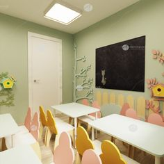 Дизайн проект ДОУ от мебельной компании Автограф. Нежное оформление группы с регулируемой мебелью, 3-ярусными кроватями и раздевалкой. Home Decor, Interior Design, Home Interior Design, Home Decoration, Decoration Home, Interior Decorating