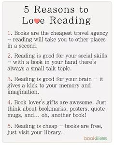 5 reasons to love reading
