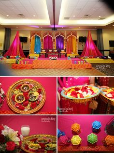 Indian Wedding Decorations Mehndi Decor – Famous Last Words Wedding Reception Centerpieces, Wedding Ceremony Backdrop, Wedding Stage, Wedding Events, Wedding Photos, Wedding House, Ceremony Arch, Wedding Tables, Wedding Bands