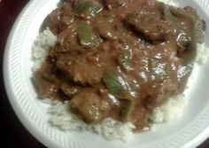 Sheree's Savory Pepper Steak in the crockpot Recipe -  Very Tasty Food. Let's make it!