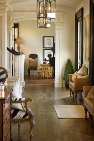 This is perfection! Love the color of the floors! South Shore Decorating Blog: love the wide plank wood floors
