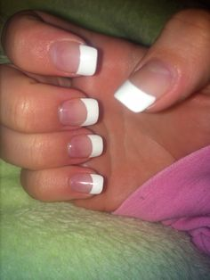 Simple French tip gel nails!