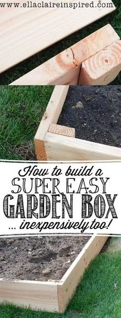 How to build the Easiest Garden Box Tutorial