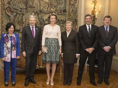 Queen Mathilde of Belgium attended the inauguration of the international conference 'Children and Armed Conflict' on February 10, 2017 in Brussels, Belgium. The Queen gave a speech at the conference. The representatives attending the conference discussed topic including field research, civil-military relations and protection of education.