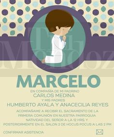Invitacion De Primera Comunion.