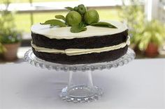 Chocolate kafir lime cake with white chocolate lime frosting Sweet Table Wedding, Lime Cake, Lime Recipes, Kaffir Lime, Big Cakes, Cake Ingredients, Frosting, Catering, Yummy Food