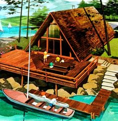 mid-century vacation ads - Google Search