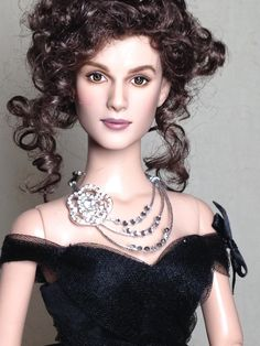 OOAK Keira Knightley Anna Karenina doll repainted by Shannon Craven of Flutterwing dolls.  www.flutterwing.com Dress by Tonner.