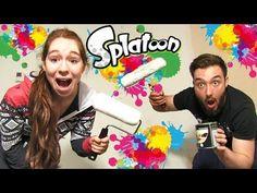 SPLATOON CHALLENGE en COUPLE in REAL LIFE !! CA TOURNE MAL ! - YouTube