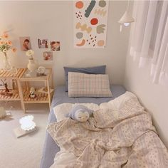 Cute Bedroom Ideas, Room Ideas Bedroom, Bedroom Decor, Korean Bedroom Ideas, Study Room Decor, Room Design Bedroom, Minimalist Room, Pretty Room, Pastel Room