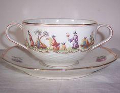 tasse bouillon en porcelaine Paris HAVILAND décor aux chinois