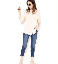 Jean skinny femme cropped taille haute