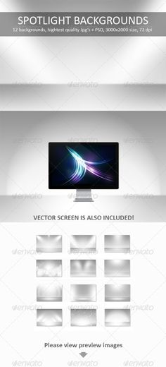 Buy 12 Spotlight Backgrounds Pack by M-e-f on GraphicRiver. Backgrounds, that simulates realistic environment with spotlight lighting and floor effects. Great to showcase your p. Background Images Wallpapers, Backgrounds, Background Templates, Spotlight, Presentation, Packing, Graphic Design, Lights, Clean Design