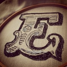 free motion embroidery typography