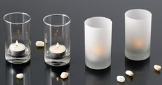 "4"" Glass Votive Holders - Restaurants - Bars  Clubs favorite. Perfect item for wedding centerpieces."