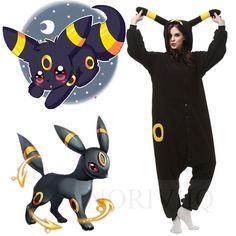 Pokemon Umbreon Onesie Kigurumi Pajamas Anime Cosplay Costume Unisex Adult…