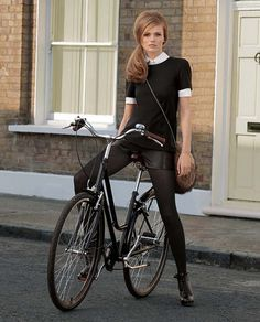The hair, the bike, the style!