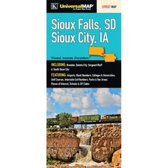Universal Map Sioux Falls SD/Sioux City IA Fold Map (Set of 2)