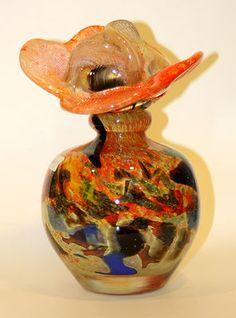 Jean Claude Novaro Hand Blown Glass Vase Extra Large Perfume Bottle | eBay