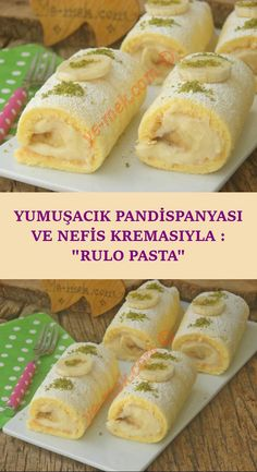 With its Squishy Sponge Cake and Yummy Cream: Roll Cake-Yumuşacık Pandispanyası Ve Nefis Kremasıyla : Rulo Pasta A soft portion cake like cotton, which you will pass while eating … - Dessert Cake Recipes, Lemon Desserts, Easy Desserts, Dessert Simple, Pasta Recipes, Crockpot Recipes, Chicken Recipes, Dinner Recipes, Healthy Recipes