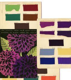 Vintage textile colour charts | via AM on The Present Tense